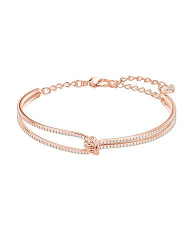 Swarovski Lifelong Knot Bangle Bracelet-ROSE GOLD-One Size