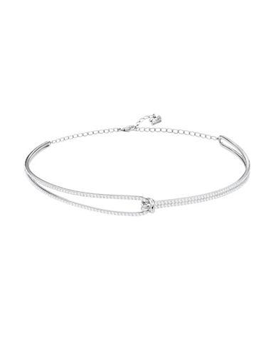 Swarovski Lifelong Crystal Choker Necklace-SILVER-One Size