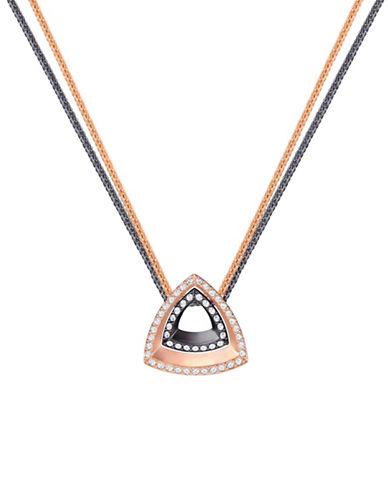 Swarovski Lovesome Triangle Necklace-TWO TONE-One Size