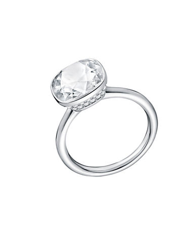 Swarovski Lattitude Crystal Solitaire Ring-SILVER-6