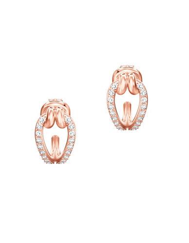Swarovski Lifelong Hoop Pierced Earrings-ROSE GOLD-One Size