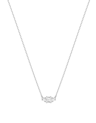 Swarovski Attract Crystal Trilogy Necklace-SILVER-One Size