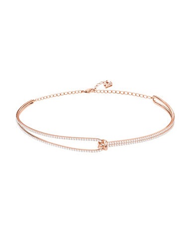 Swarovski Lifelong Crystal Choker Necklace-ROSE GOLD-One Size