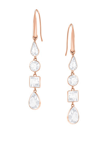 Swarovski Lisanne Crystal Drop Earrings-ROSE GOLD-One Size