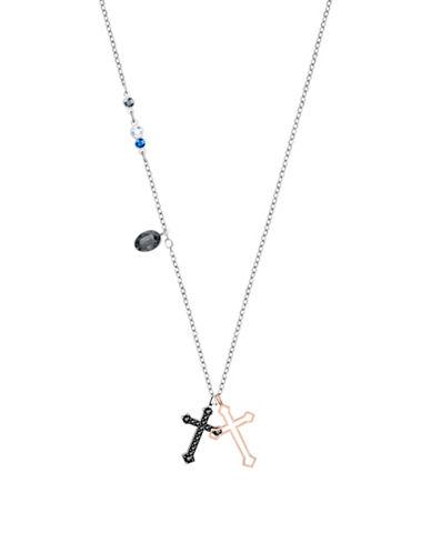Swarovski Duo Mini Cross Necklace-ASSORTED-One Size
