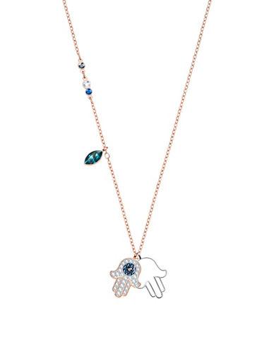 Swarovski Duo Hamsa Hand Pendant Necklace-ASSORTED-One Size