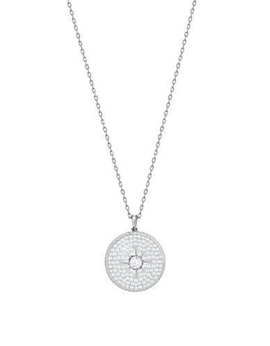 Swarovski Locket Pavé Crystal Pendant Necklace-SILVER-One Size