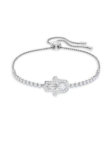 Swarovski Subtle Hamsa Hand Pavé Crystal Bracelet-SILVER-One Size