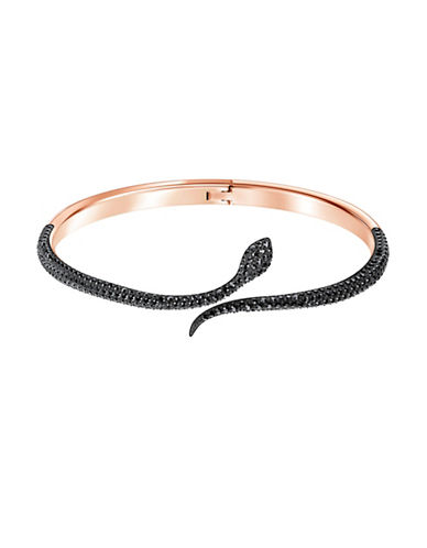 Swarovski Leslie Black Crystal Bangle Bracelet-BLACK-One Size
