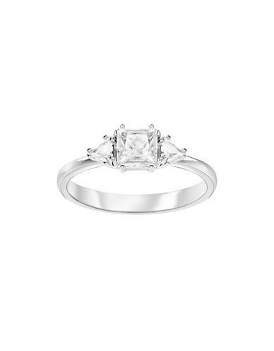 Swarovski Attract Crystal Trilogy Solitaire Ring-SILVER-One Size
