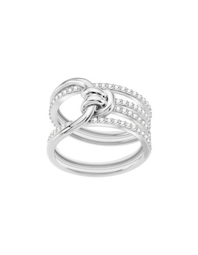 Swarovski Lifelong Crystal Knot Wide Ring-SILVER-One Size