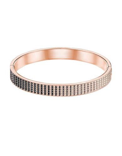 Swarovski Luxury Crystal Small Hinged Bangle Bracelet-ROSE GOLD-One Size
