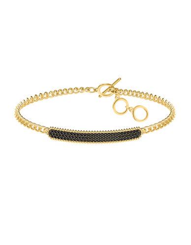 Swarovski Crystal Pave Chain Bracelet-BLACK-One Size
