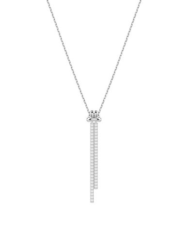 Swarovski Lifelong Crystal Knot Y-Necklace-SILVER-One Size