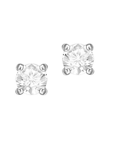 Swarovski Attract Round Crystal Stud Earrings-SILVER-One Size