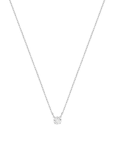 Swarovski Attract Round Crystal Necklace-SILVER-One Size