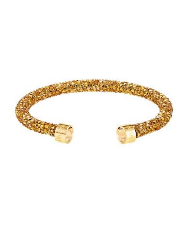 Swarovski Crystaldust Crystal Cuff Bracelet-GOLD-M