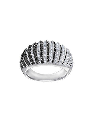 Swarovski Luxury Crystal Domed Ring-SILVER-7