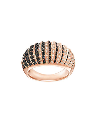 Swarovski Luxury Crystal Rose Gold Domed Ring-ROSE GOLD-5
