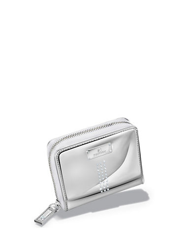 Swarovski Metallic Zip Wallet Gift With Purchase-WHITE-One Size