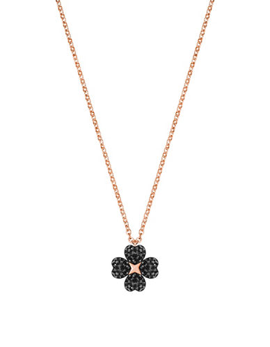 Swarovski Latisha Flower Crystal Necklace-BLACK-One Size