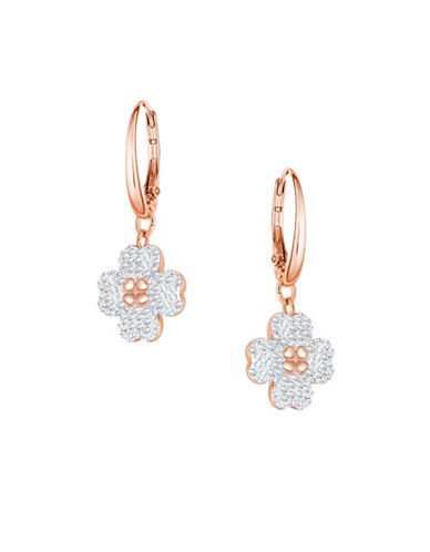 Swarovski Latisha Crystal Hoop Earrings-ROSE GOLD-One Size
