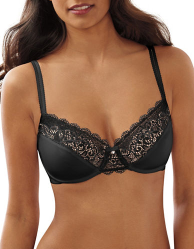 Bali Smoothing Lace Desire Bra-BLACK-38DD