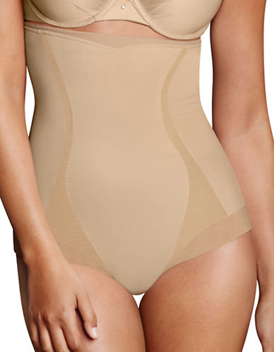 Maidenform Firm Foundations High-Waist Briefs-BEIGE-Small