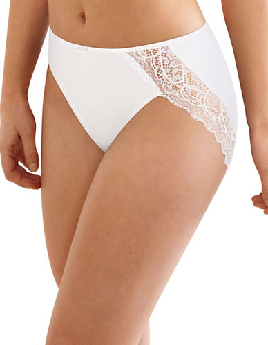 Bali Lace Desire High Cut Briefs-WHITE-Medium