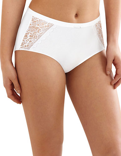 Bali Lace Desire Briefs-WHITE-X-Large