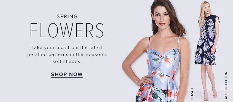 2d30b4d4a97 Eliza J floral sweetheart dress and more floral spring dresses at thebay.com