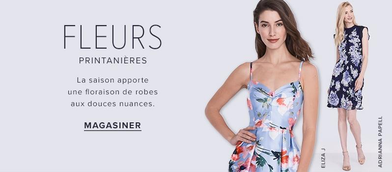 Femme Vêtements pour femme Robes. fleursCONTEMPORAinLe chic au boulotC est  la fête 3b134f9a613