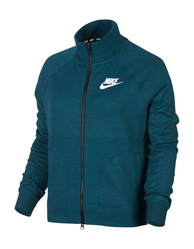 Nike Mix Texture Zip Jacket-BLUE-Large