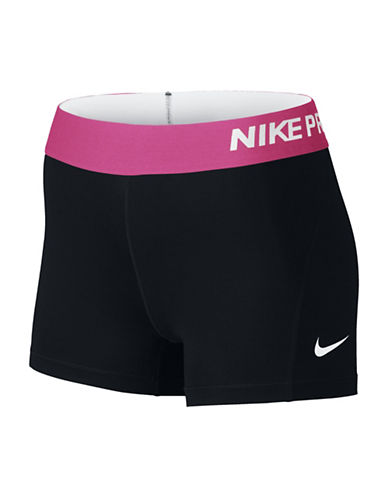 Nike Pro Shorts-BLACK/PINK-X-Small