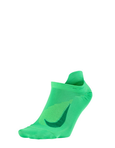 Nike Elite Lightweight No-Show Running Socks-GREEN-6-7.5
