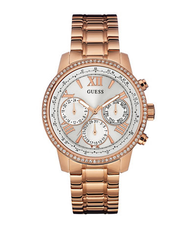 Guess Multi-Function Rose-Goldtone Stainless Steel Bracelet Watch-ROSE GOLD-One Size