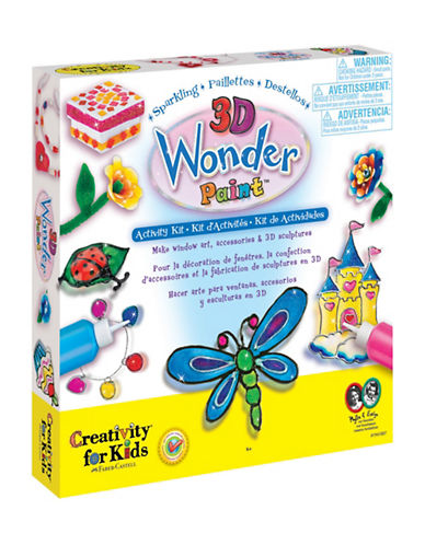 Creativity For Kids Sparkling 3D Wonder Paint Activity Kit-MULTI-One Size