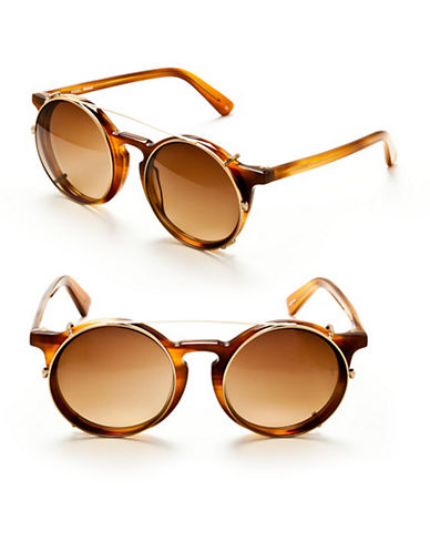 Sunday Somewhere Matahari 50mm Round Sunglasses-CHOCOLATE TORTOISE-One Size