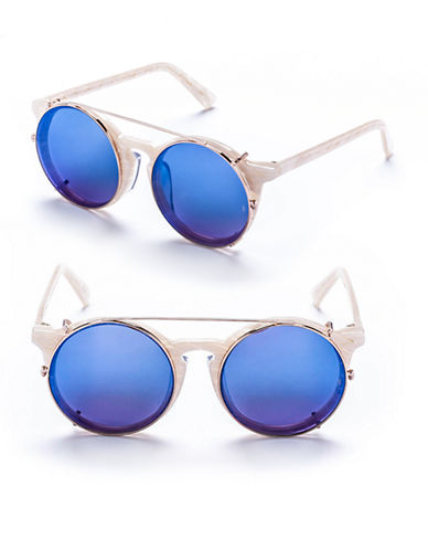 Sunday Somewhere Matahari 50mm Round Sunglasses-MOTHER OF PEARL-One Size
