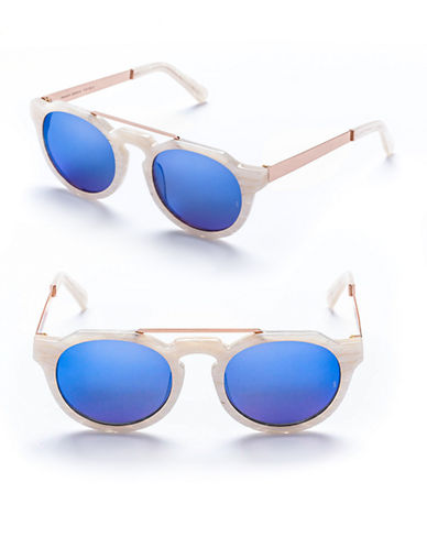 Sunday Somewhere Heeyeh 51mm Aviator Sunglasses-MOTHER OF PEARL-One Size
