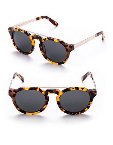 Sunday Somewhere Heeyeh 51mm Aviator Sunglasses-MARBLE TORTOISE-One Size