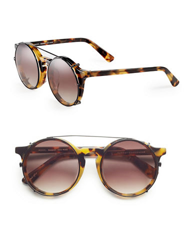 Sunday Somewhere Matahari 50mm Round Sunglasses-MARBLE TORTOISE-One Size