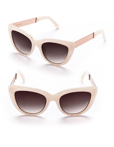 Sunday Somewhere Laura 54mm Cat-Eye Metal Sunglasses-MOTHER OF PEARL-One Size