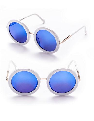 Sunday Somewhere Isabella 53mm Round Sunglasses-WHITE-One Size