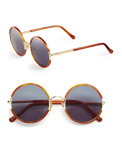Sunday Somewhere Yetti 53mm Round Sunglasses-CHOCOLATE TORTOISE-One Size