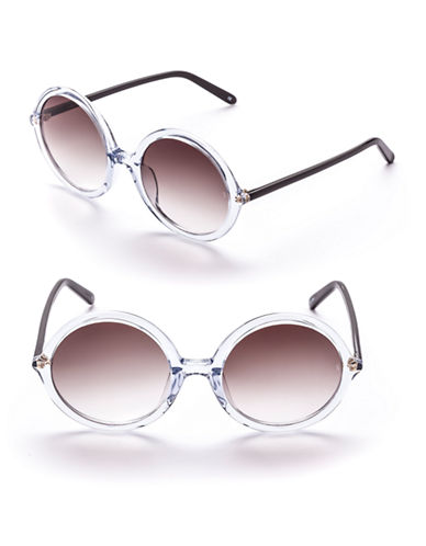 Sunday Somewhere Tilda 53mm Round Sunglasses-CRYSTAL-One Size