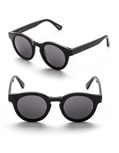 Sunday Somewhere Soelae 46mm Round Sunglasses-MATTE BLACK-One Size