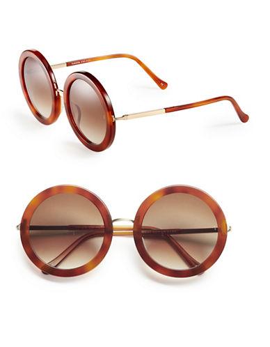 Sunday Somewhere Isabella 53mm Round Sunglasses-CHOCOLATE TORTOISE-One Size