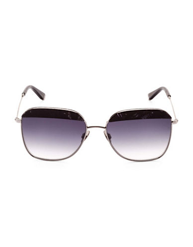 Sunday Somewhere Off The Radar Vito 57mm Aviator Sunglasses-BLACK-One Size
