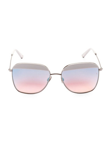 Sunday Somewhere Off The Radar Vito 57mm Aviator Sunglasses-WHITE-One Size
